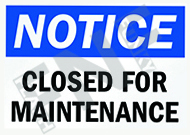 Notice – Closed for maintenance