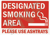 Designated smoking area – Please use ashtrays