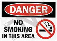 Danger – No smoking in this area