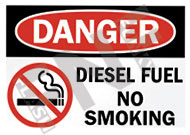 Danger – Diesel fuel – No smoking