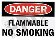 Danger – Flammable – No smoking