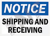 Notice – Shipping and receiving