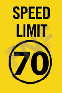 Speed limit 70