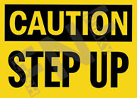 Caution – Step up