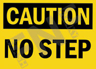 Caution – No step