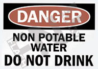 Danger – Non potable water – Do not drink