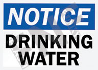 Notice – Drinking water