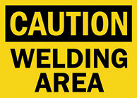 Welding area Sign 1