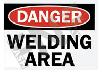 Danger – Welding area