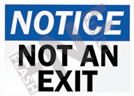 Notice – Not an exit