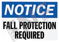 Notice – Fall protection required