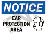 Notice – Ear protection area