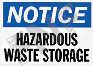 Notice – Hazardous water storage