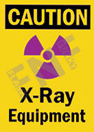 Caution – X-Ray equipment