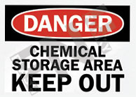 Chemical storage area Sign 1