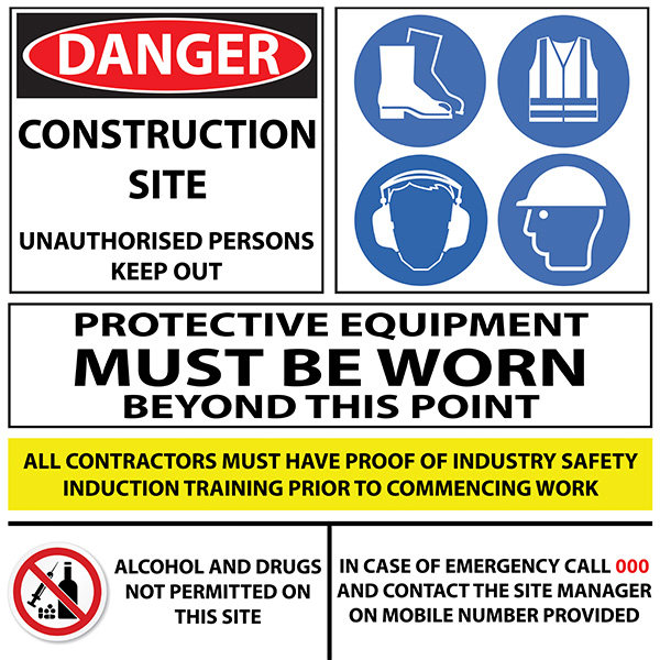 Safety Signs (600 x 900 mm) 1