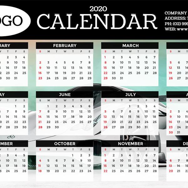 2020 Calendar (450 x 300mm)