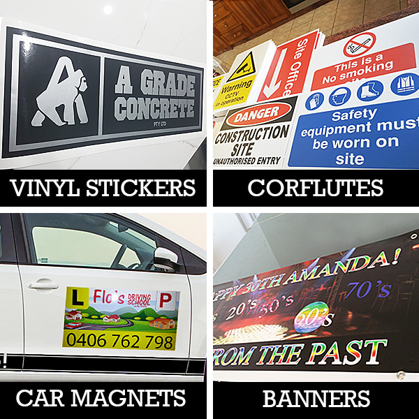 CAR STICKERS - CAR DOOR MAGNETS - CORFLUTES -  BANNERS (600 x 300mm) 2